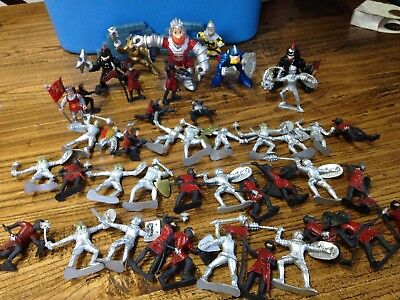 44pc Bulk Knights Medieval Toy Soldiers Figures Playset Plastic