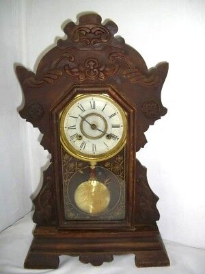 Antique New Haven Clock Co. Gingerbread Mantel Clock - Good working order