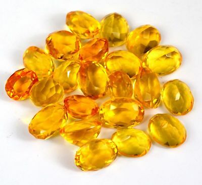 Yellow Citrine Loose Gemstone Wholesale Lot 100-2500 Ct Oval Shape Brazilian