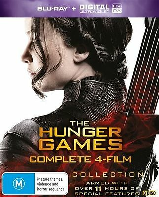 Hunger Games Complete Collection Blu-Ray Set Catching Fire Mockingjay Part 1 & 2