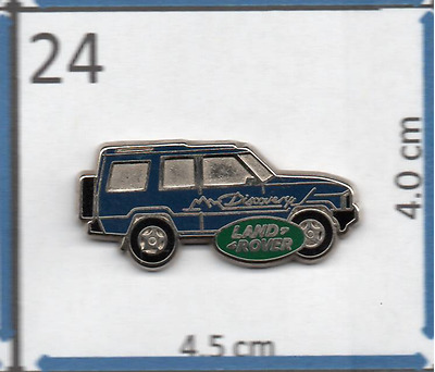 Land Rover Discovery Blue Lapel Pin & Butterfly Clasp Roughly 3 cm X 1.4 cm