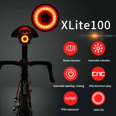 X-Lite100 COB LED Bicycle Tail Light Bike Lamp Smart Brake & Light & G Sensor