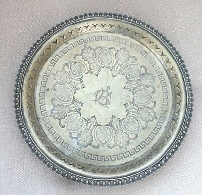 """Antique / Vintage Deane & Co of London Bridge Silver Plated Card Tray 10"""""""