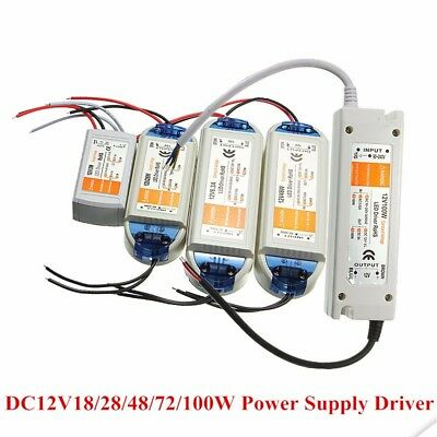 18W/28W/48W/72W/100W Transformateur Alimentation Transfo Driver 12V Pr LED Strip