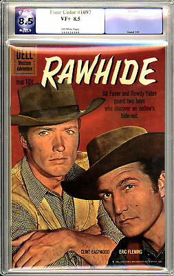 Four Color #1097 - Rawhide - Clint Eastwood, Eric Fleming Photo Cover - PGX 8.5!