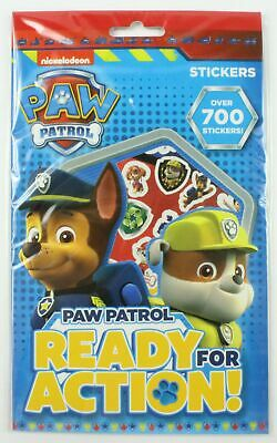 Paw Patrol Dogs Stickers 700 Pk Assorted Character Kids Party Favour Filler Art