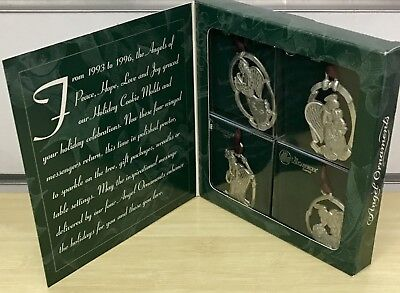 Longaberger Angel Pewter Christmas Ornaments 1998