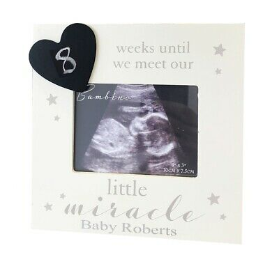Baby Scan Frame Gift Pregnancy First Photo Picture Mum Countdown+Free Wrap Paper