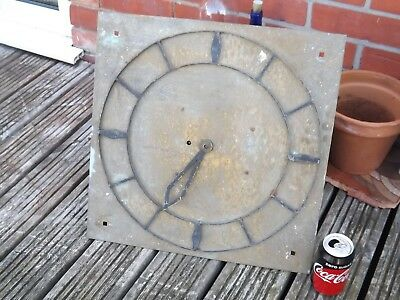 Antique Large Outside Railway ? Fussee Wall Clock -  Spares Or Repair
