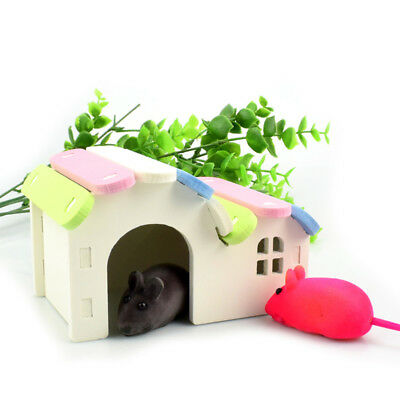 Pet Hamster Mouse Villa Cage House Nest Playground Exercise Toy Play House Hot F