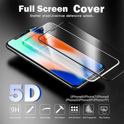 5D Full Coverage Tempered Glass Screen Protector For Apple iPhone X XR XS Max US