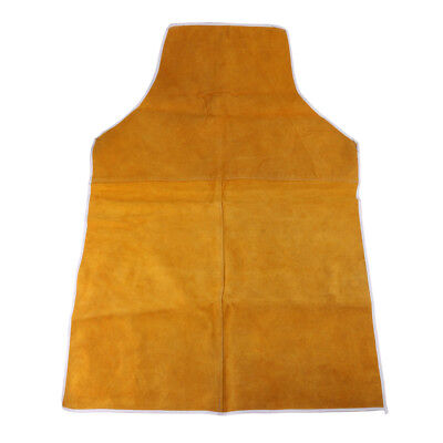 Welding Coat Apron Protective Clothing Welder Safety Clothing 90cm Yellow
