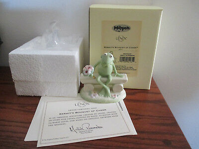 LENOX KERMIT'S BOUQUET OF CHEER July Frog Muppets Figurine NEW in BOX w/COA