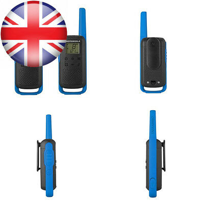 Motorola T62 PMR446 2-Way Walkie Talkie Radio Twin Pack - Blue