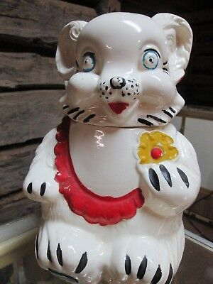 Vintage Teddy Bear Cookie Jar Marked Royal Ware 1950's