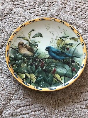 """LENOX PLATE NATURE'S COLLAGE  COLLECTION  """"Indigo Evening"""" CATHERINE MCCLUNG."""
