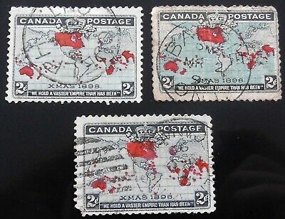Canada #     85  3x 2c   penny postage 1898 used cat 25 us