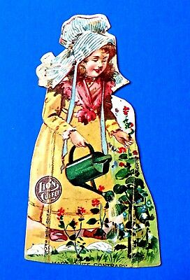 "Lion Coffee ""Mary Quite Contrary"" Trade Card Woolson Spice Co. Toledo, Ohio"