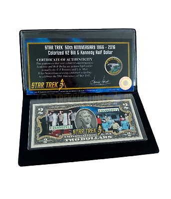 Franklin Mint Dollar, Star Trek Dollar, Star Trek half Dollar, Star Trek Münze