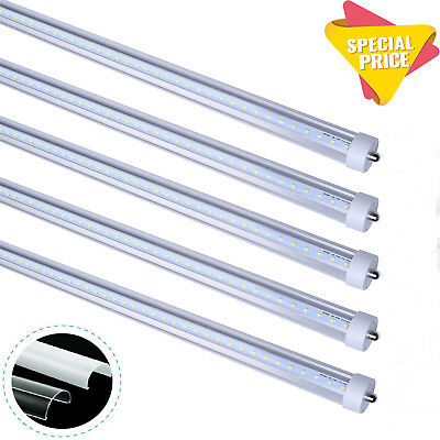 8Foot LED Tube Light T8 Single Pin 45W FA8,5000K,6500K T12 Clear, Frosted Cover