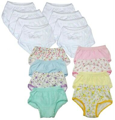 Toddler Underwear Girls Panties 8-Pack Baby Briefs Soft Cotton 12 Months 2T 3T