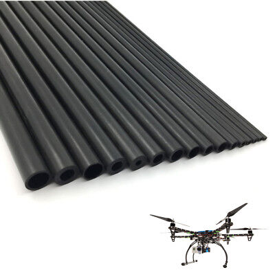 Dia 5-18mm Wall 1mm Carbon Fiber Tube Round Pipe Matte Surface 10 25 50cm