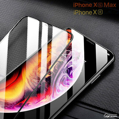 3D FULL Coverage Tempered Glass Screen Protector Guard For iPhone Xs Max XR 10s