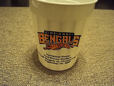 TWO Vintage NFL 2000 Cincinnati Bengals inaugural game Plastic Football Cup