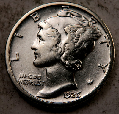 1926 Mercury Dime // Choice Uncirculated-AU // (D706)
