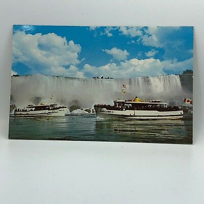 Postcard Vintage Maid of the Mist Niagara Falls Boat Tour Voyage A-16