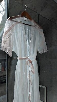 Vintage Gilead Sheer Full Length Shear Robe, Luxurious and sexy