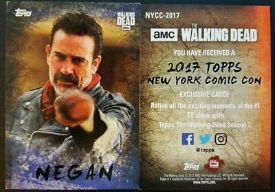 NYCC 2017 exclusive TOPPS The Walking Dead Negan Promo Card AMC New York 2018
