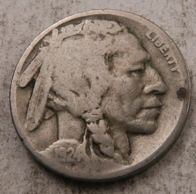 1924-D Buffalo Nickel // VG *Full Date* // (B4407)