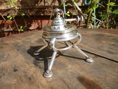 Small silver plate oil lamp