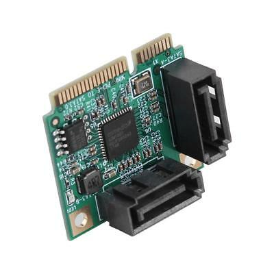 2 Ports Mini PCI-E PCI Express to SATA 3.0 Hard Drive Extension Coverter Card