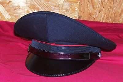 WWII German Look Black Italian Army Officers Hat Cap US Size Extra Large XL 60