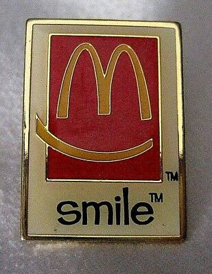 McDonalds Vintage Smile Promo Pin Golden Arches Ronald McDonald Fast Food