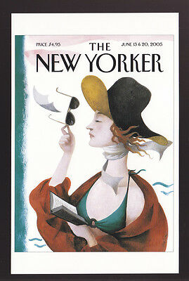 THE NEW YORKER MAGAZINE COVER ART POSTCARD June 13,2005 Debut on Beach Ana Juan