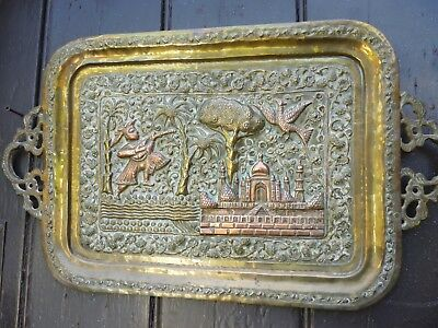 Indian brass & copper tray