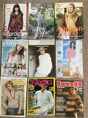 Lot Of Over 100 Ladies Knitting Patterns In Booklets, Patterns, Rowan & Vintage