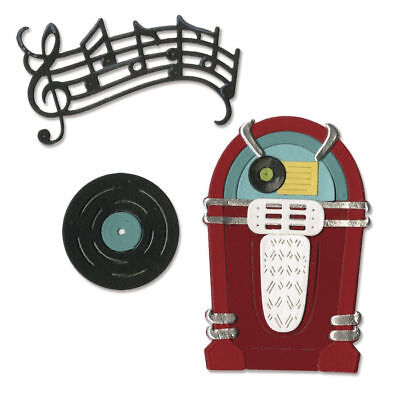 Nuevo Sizzix Thinlits Die Set - Juke Box&music