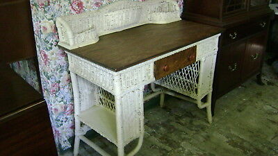 Antique Wicker Desk - ANTIQUE WICKER DESK - $45.00 PicClick