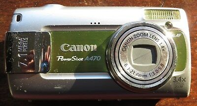 canon powershot A470 camera - used but in good condition and working order