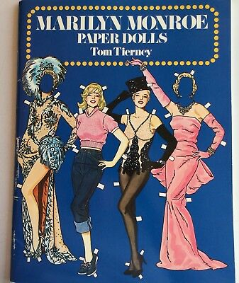 VTG MARILYN MONROE PAPER DOLLS GLAM 1950s HOLLYWOOD FASHION VINTAGE DOVER