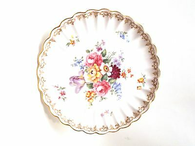 Vintage Round Compote By Crown Staffordshire Englands Bouquet Pattern