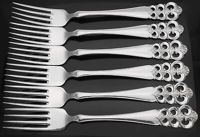 David-Andersen Norrona Pattern Set Of 6X Dinner / Table Forks - Silver Plated