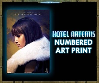 HOTEL ARTEMIS Sofia Boutella CONTRACT KILLER NUMBERED Regal POSTER Print 13x19