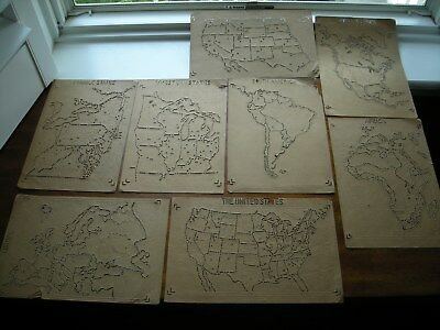 Eight(8) Pre 1890 Geography Map Stencils Made In Germany