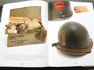 """m-1 Helmet Of The Ww2 Gi"" Us Army Paratrooper Painted Steel Pot Reference Book"