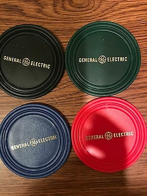 General Electric (GE) Plastic Drink Coasters- 4 Colors 8 total